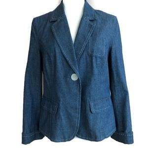 Charter Club Womens Sz 10 Blue Denim Jean Jacket